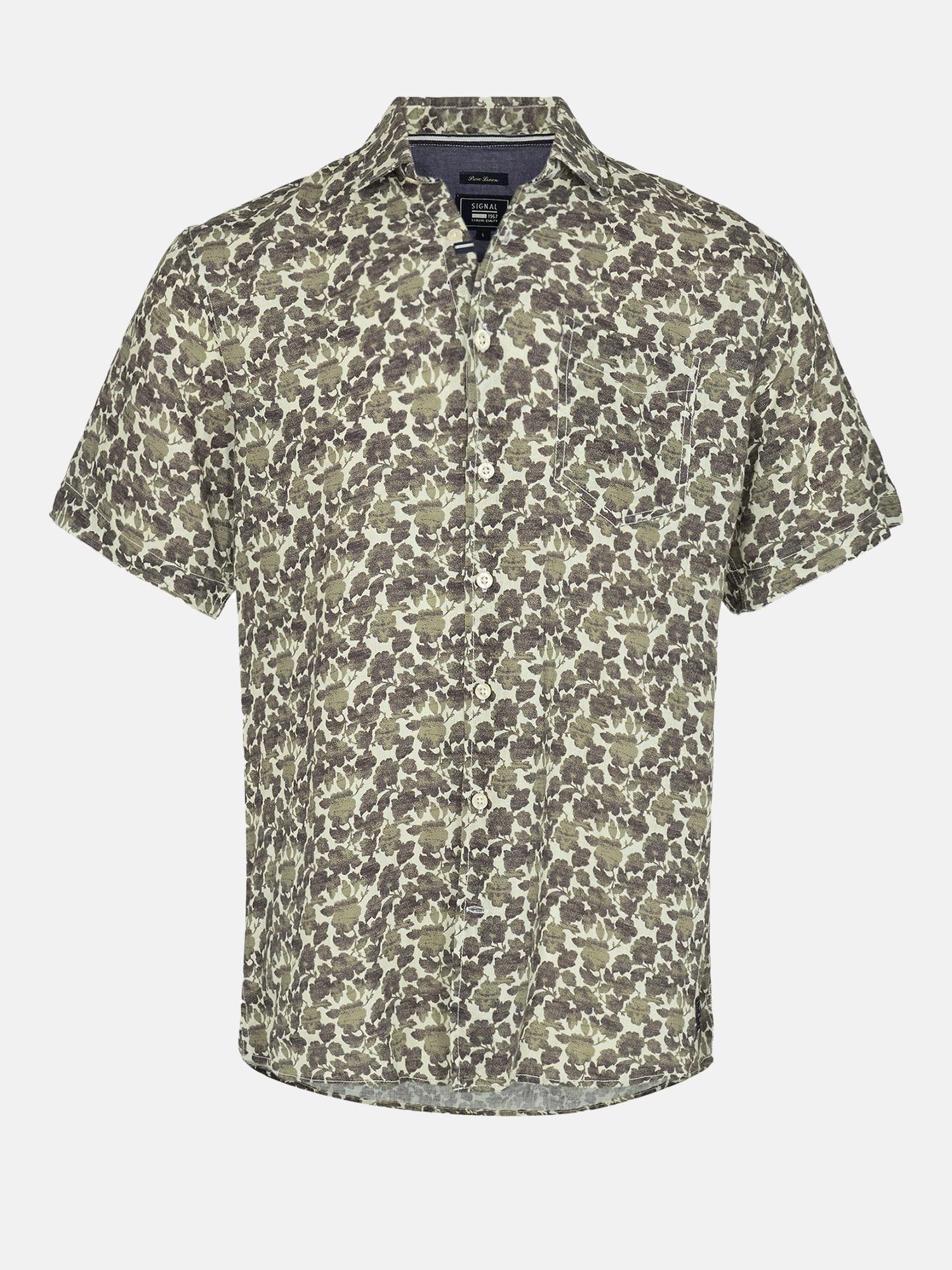 Jock Linen Print Shirt Ss